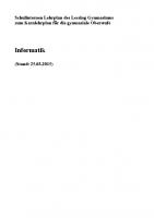 Lehrplan Informatik