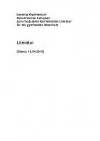 Lehrplan Literatur