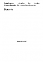 Schulinterner LP Deutsch Sek II 05.04.2017